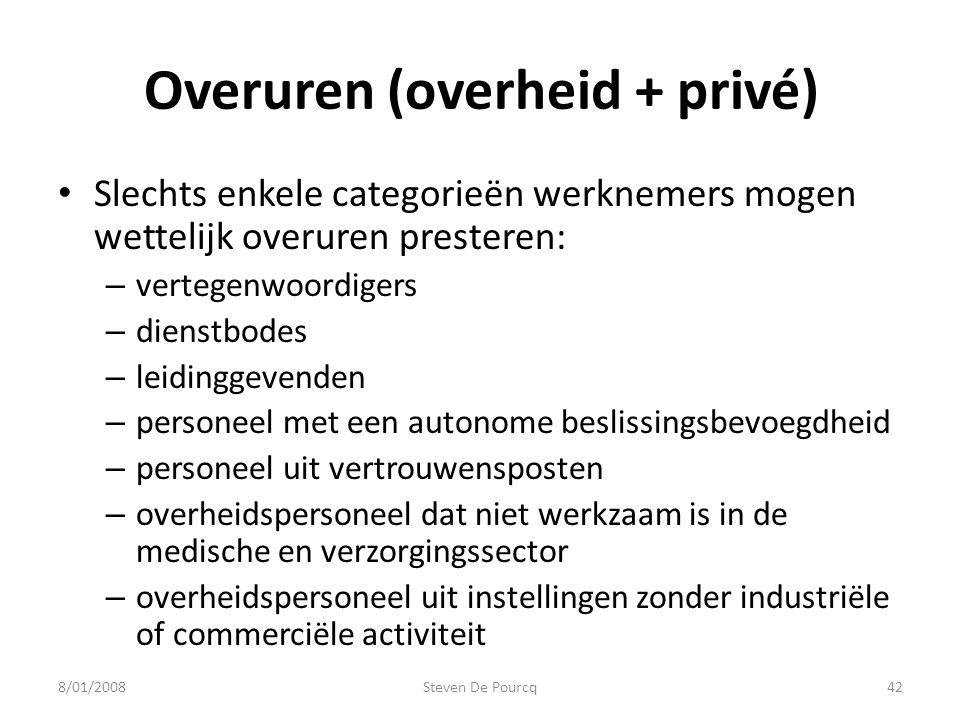 Overuren (overheid + privé)