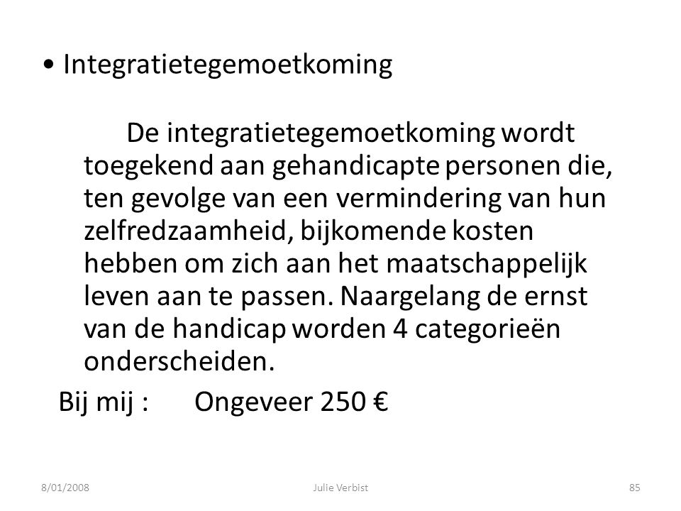 Integratietegemoetkoming