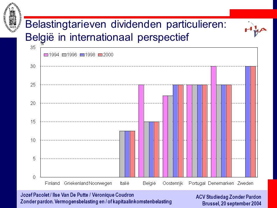 Belastingtarieven dividenden particulieren: België in internationaal perspectief