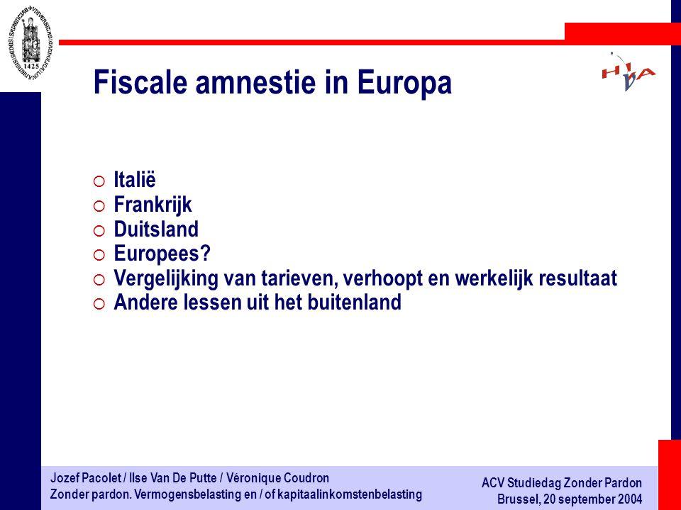 Fiscale amnestie in Europa