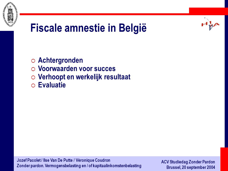 Fiscale amnestie in België