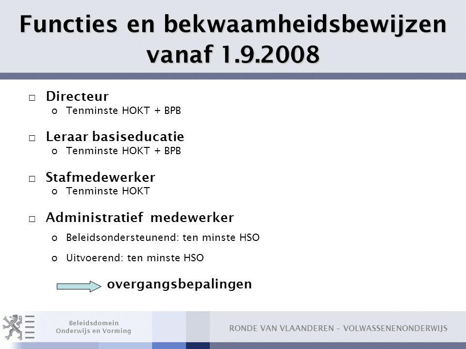 Functies en bekwaamheidsbewijzen vanaf 1.9.2008