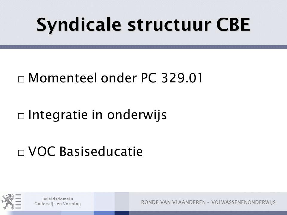 Syndicale structuur CBE