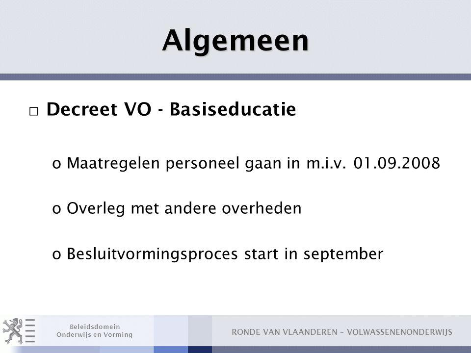 Algemeen Decreet VO - Basiseducatie
