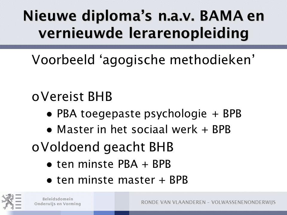 Nieuwe diploma's n.a.v. BAMA en vernieuwde lerarenopleiding