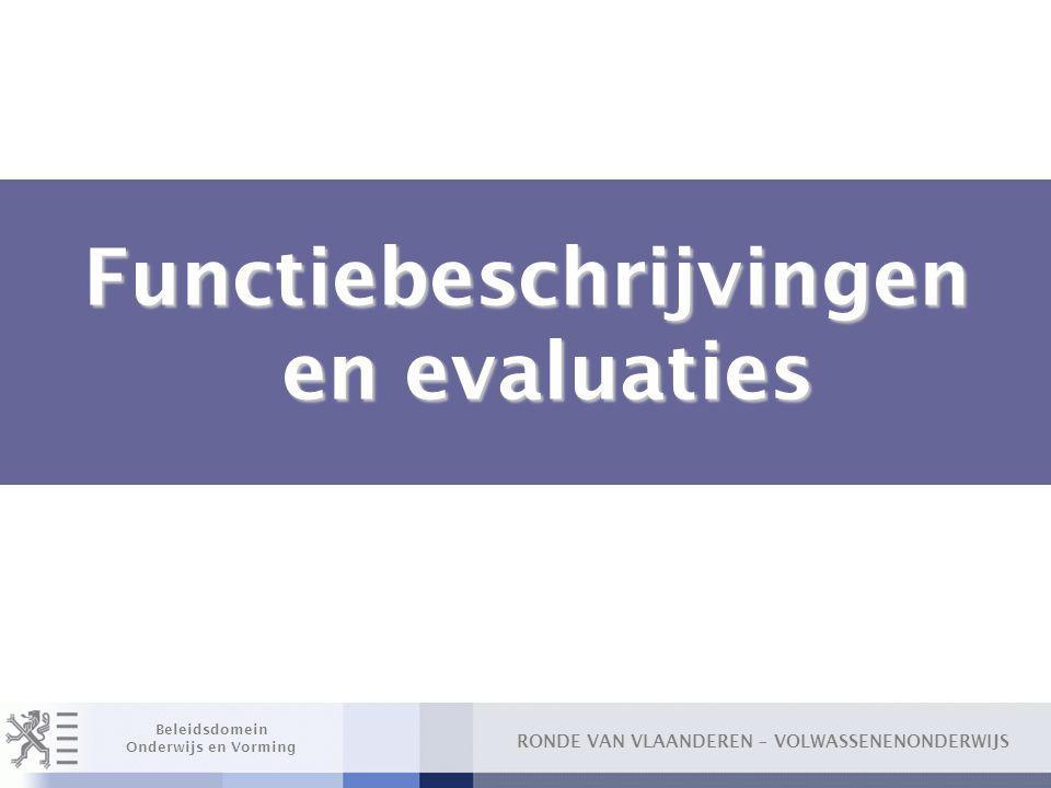 Functiebeschrijvingen en evaluaties