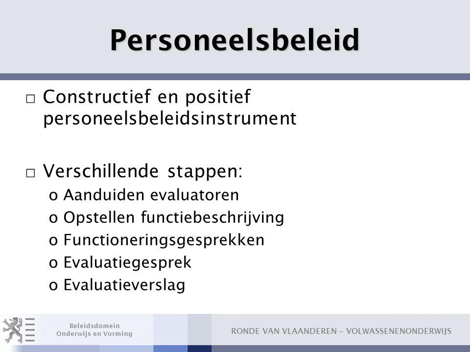 Personeelsbeleid Constructief en positief personeelsbeleidsinstrument