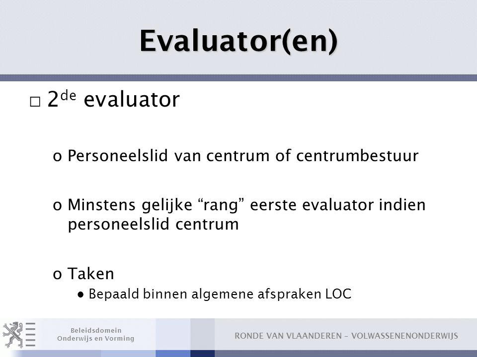 Evaluator(en) 2de evaluator