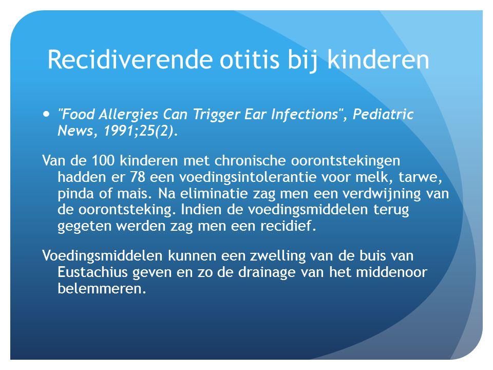 Recidiverende otitis bij kinderen