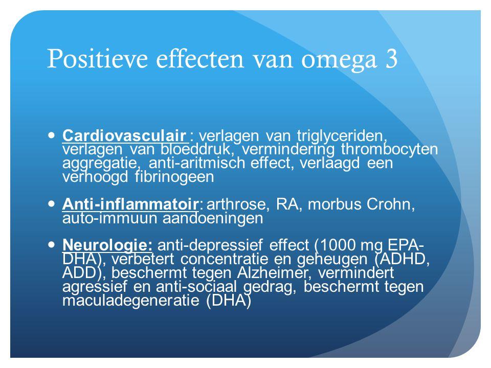 Positieve effecten van omega 3