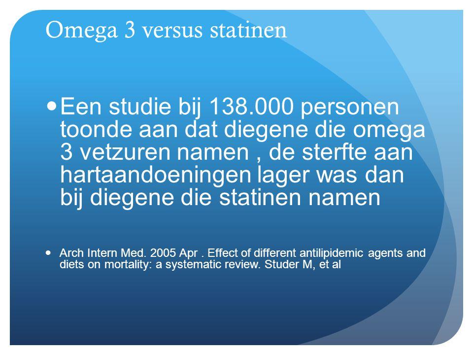 Omega 3 versus statinen