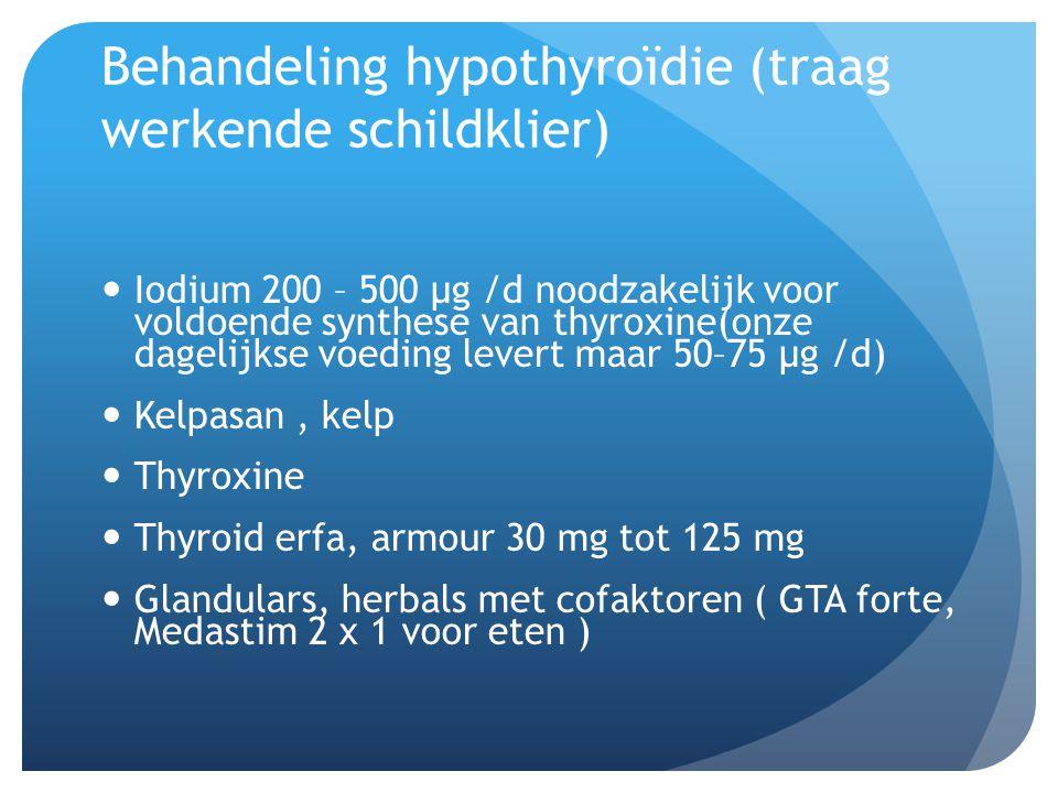 Behandeling hypothyroïdie (traag werkende schildklier)