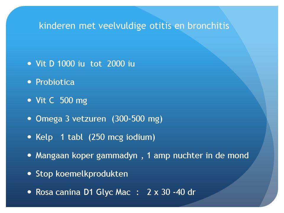 kinderen met veelvuldige otitis en bronchitis