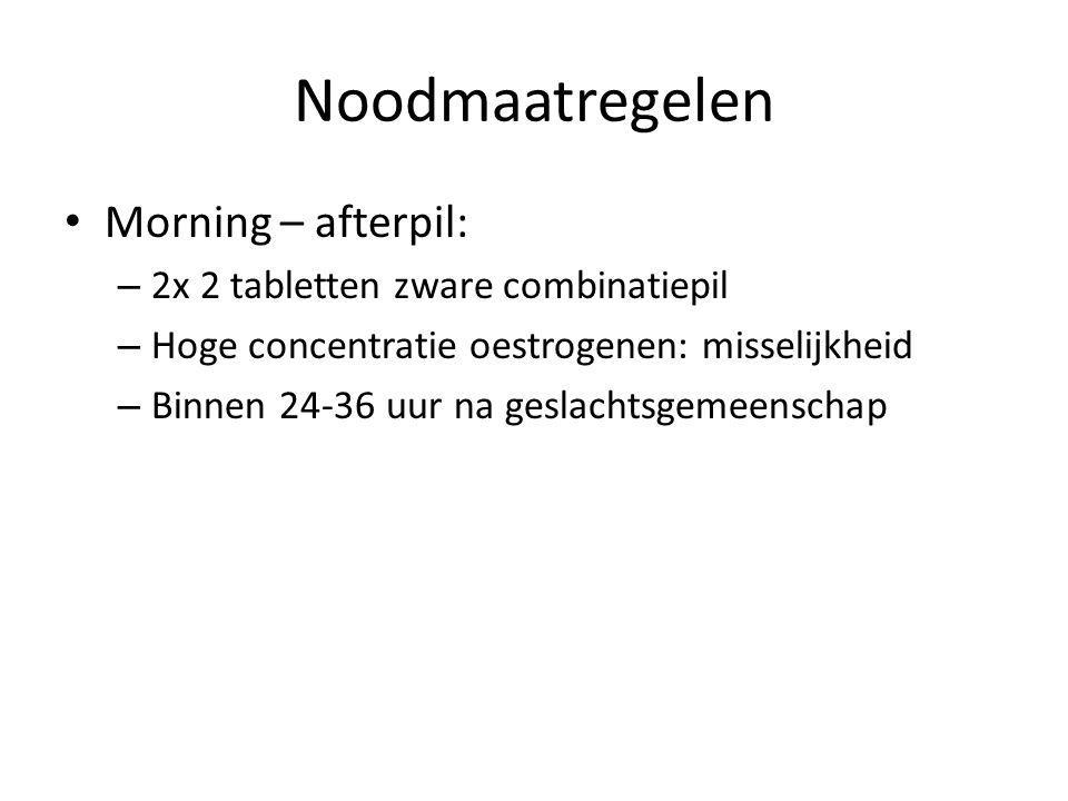 Noodmaatregelen Morning – afterpil: 2x 2 tabletten zware combinatiepil