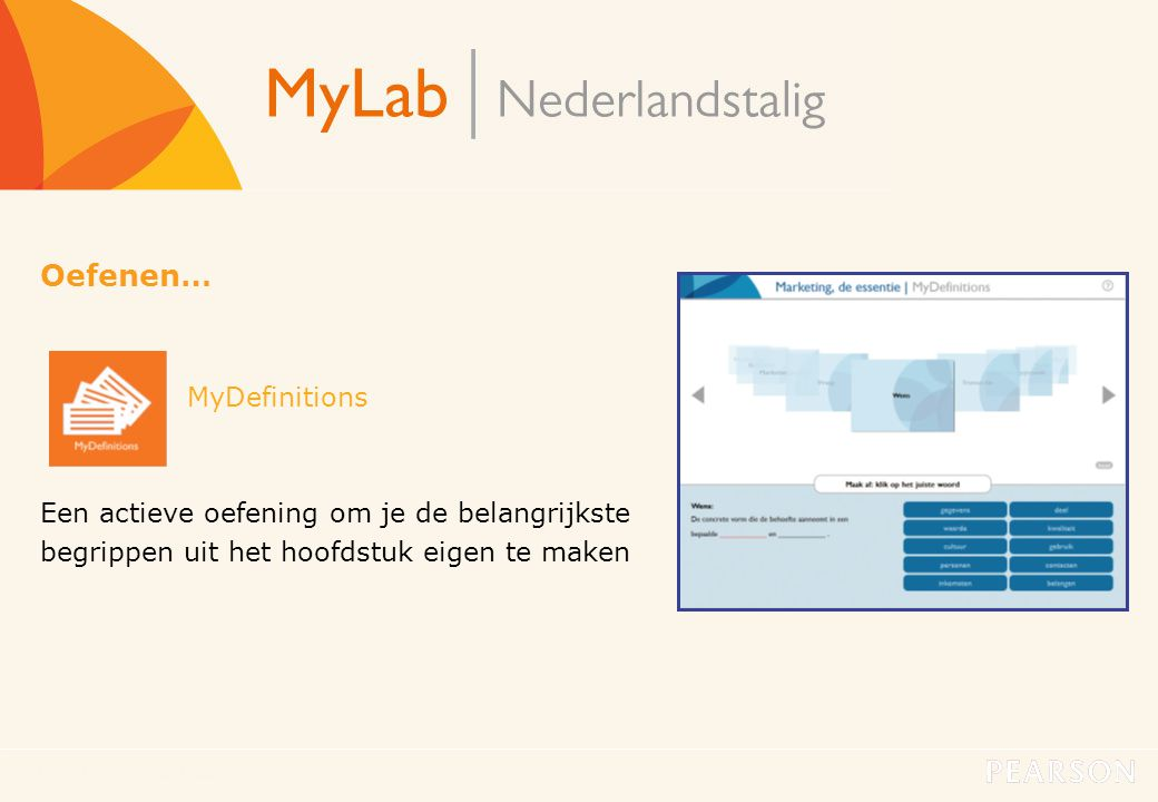 Oefenen… MyDefinitions