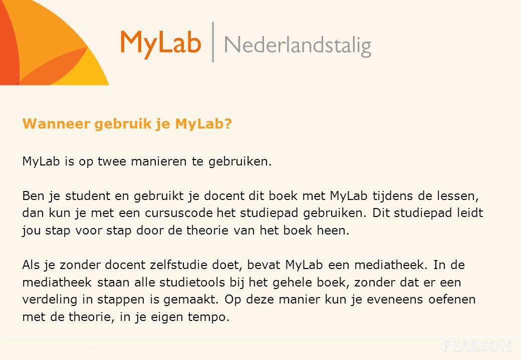 Wanneer gebruik je MyLab