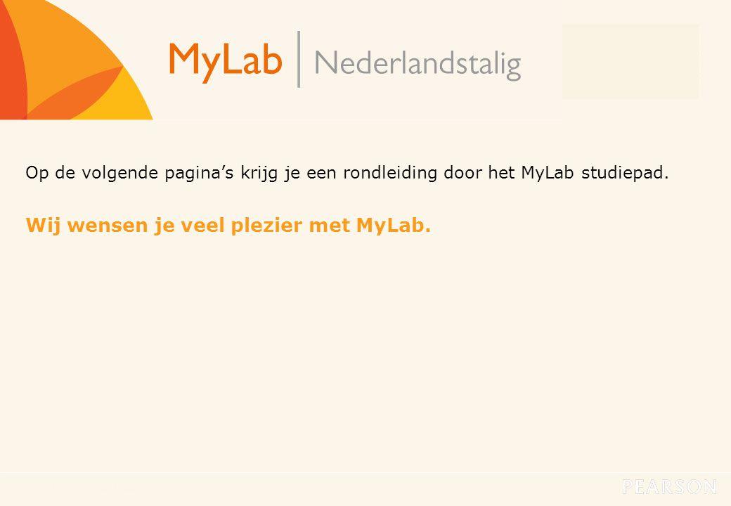 Wij wensen je veel plezier met MyLab.