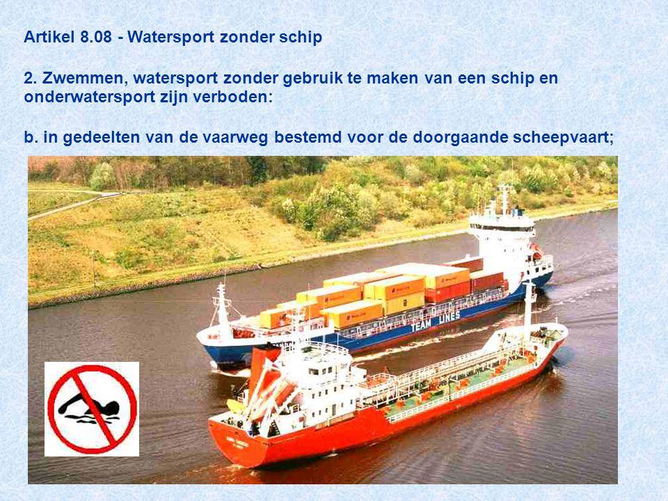 Artikel 8. 08 - Watersport zonder schip 2