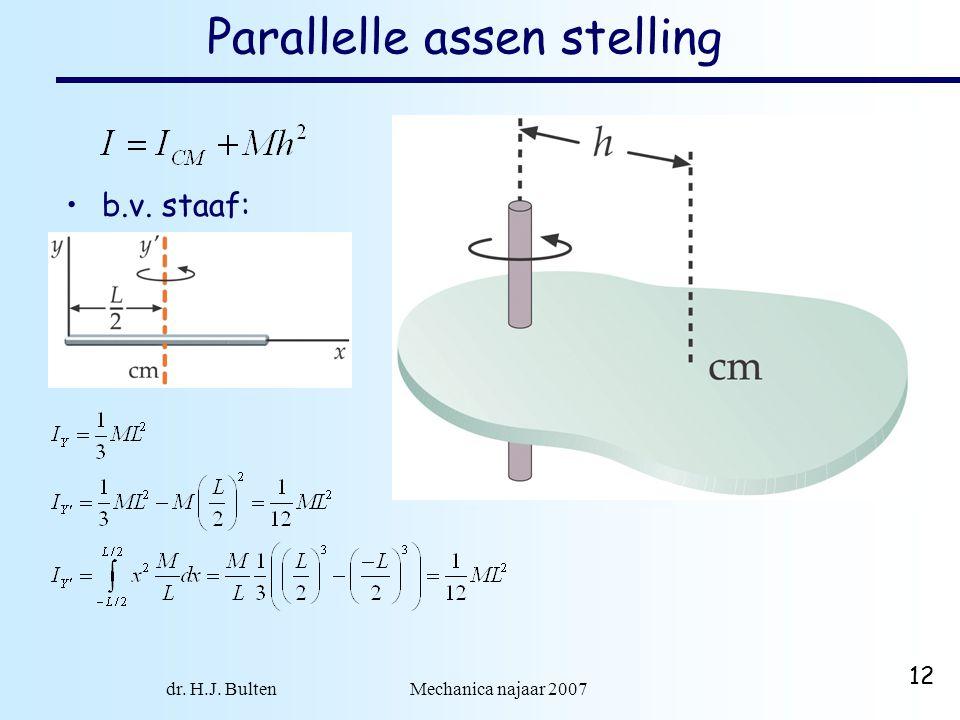 Parallelle assen stelling