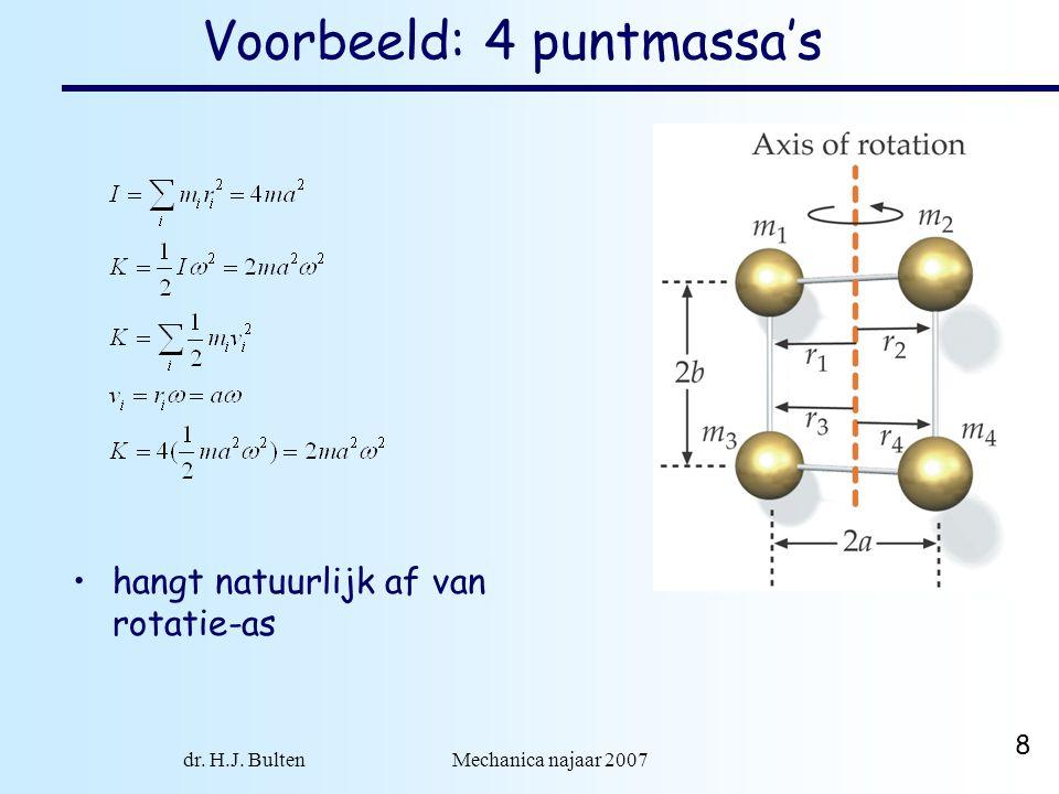 Voorbeeld: 4 puntmassa's