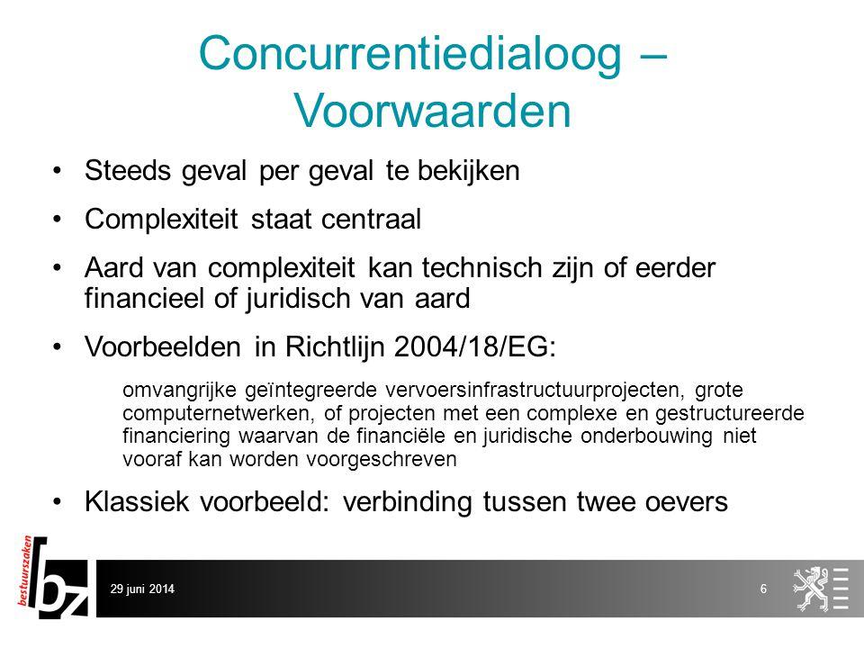 Concurrentiedialoog – Voorwaarden