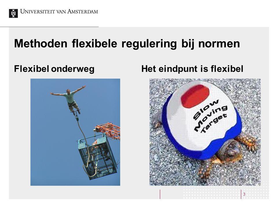 Methoden flexibele regulering bij normen