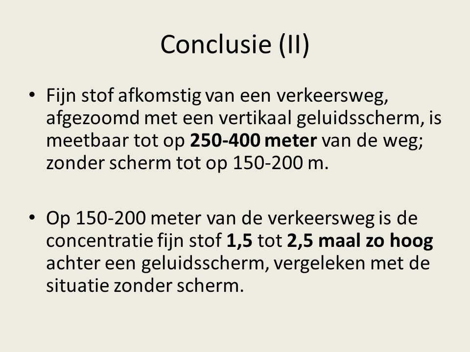 Conclusie (II)