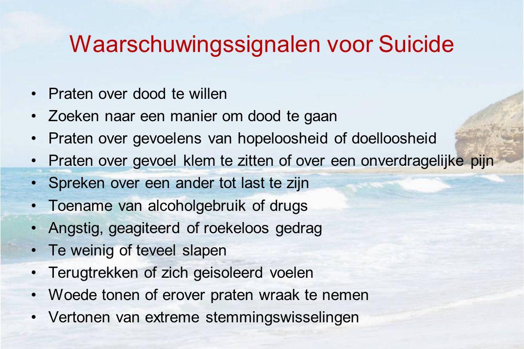 Waarschuwingssignalen voor Suicide