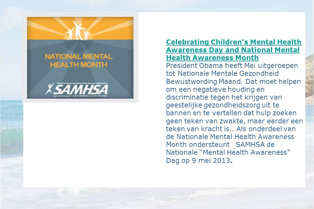 Celebrating Children's Mental Health Awareness Day and National Mental Health Awareness Month
