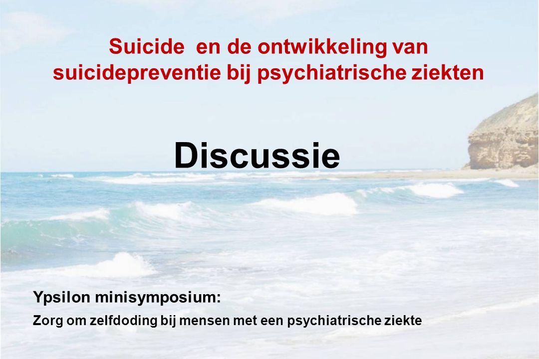 Suicide en de ontwikkeling van suicidepreventie bij psychiatrische ziekten