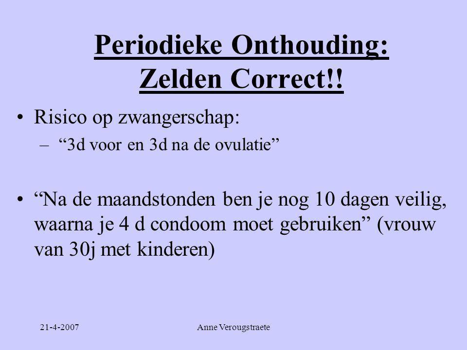Periodieke Onthouding: Zelden Correct!!
