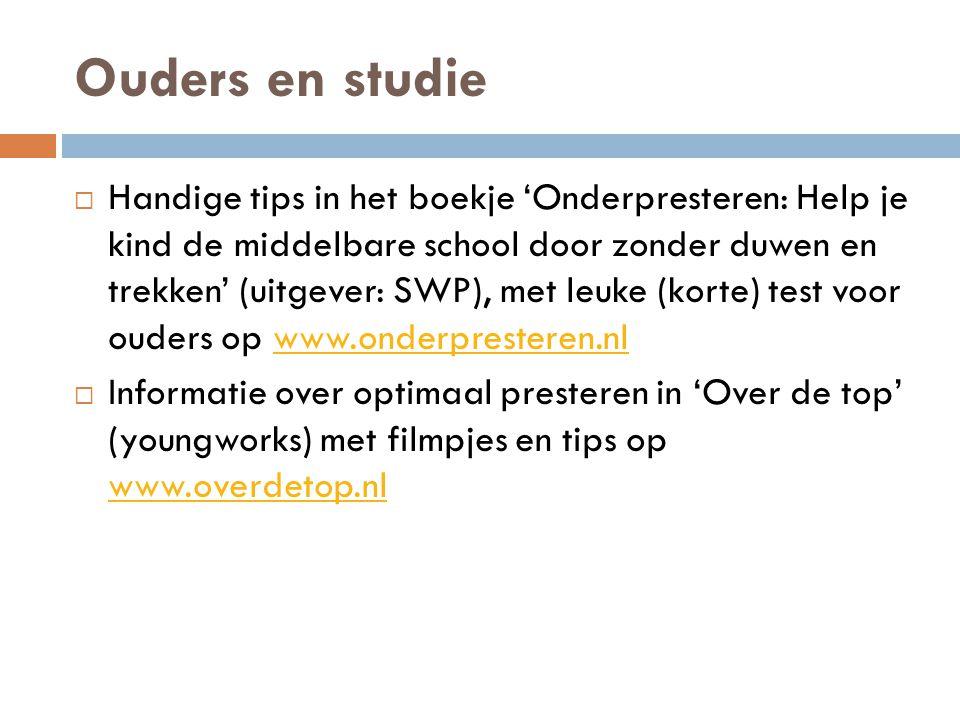 Ouders en studie