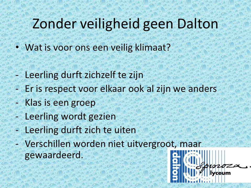 Zonder veiligheid geen Dalton