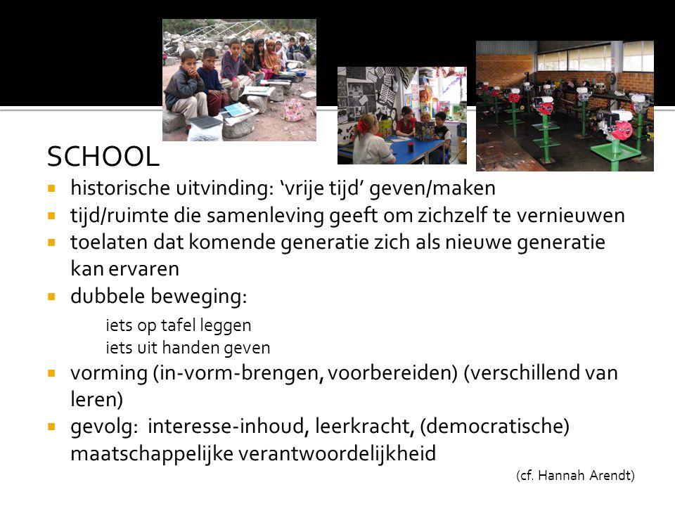 SCHOOL historische uitvinding: 'vrije tijd' geven/maken
