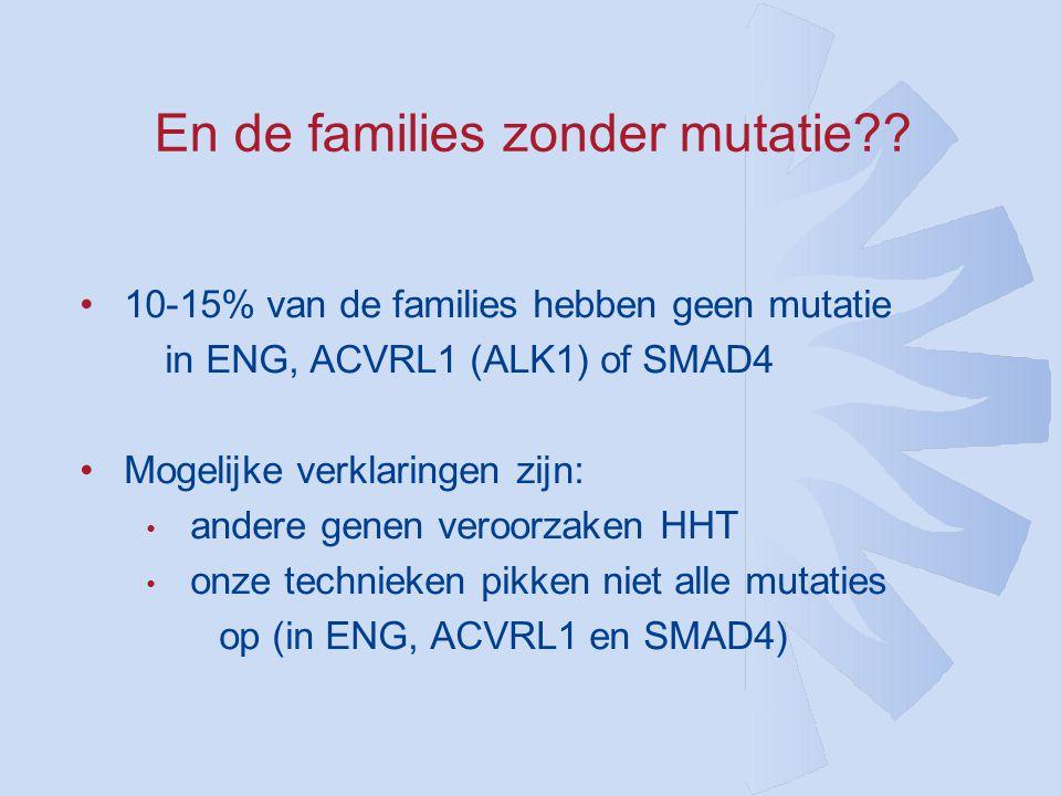 En de families zonder mutatie