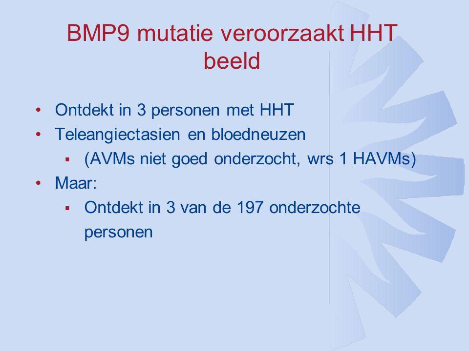 BMP9 mutatie veroorzaakt HHT beeld