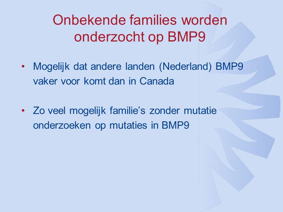 Onbekende families worden onderzocht op BMP9