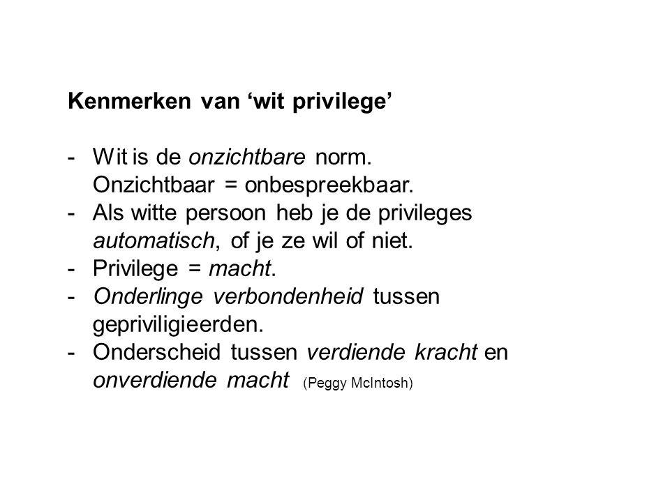 Kenmerken van 'wit privilege'