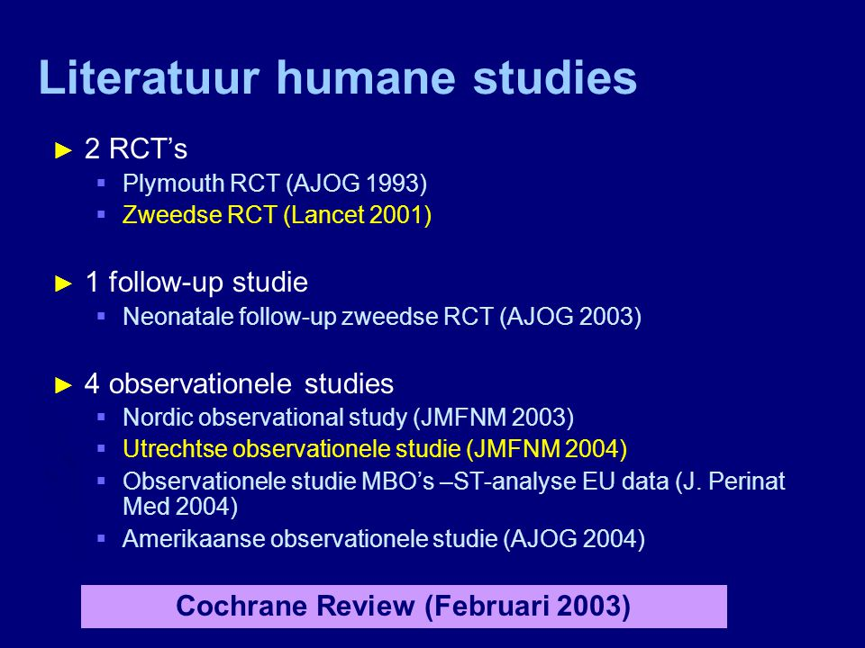 Literatuur humane studies