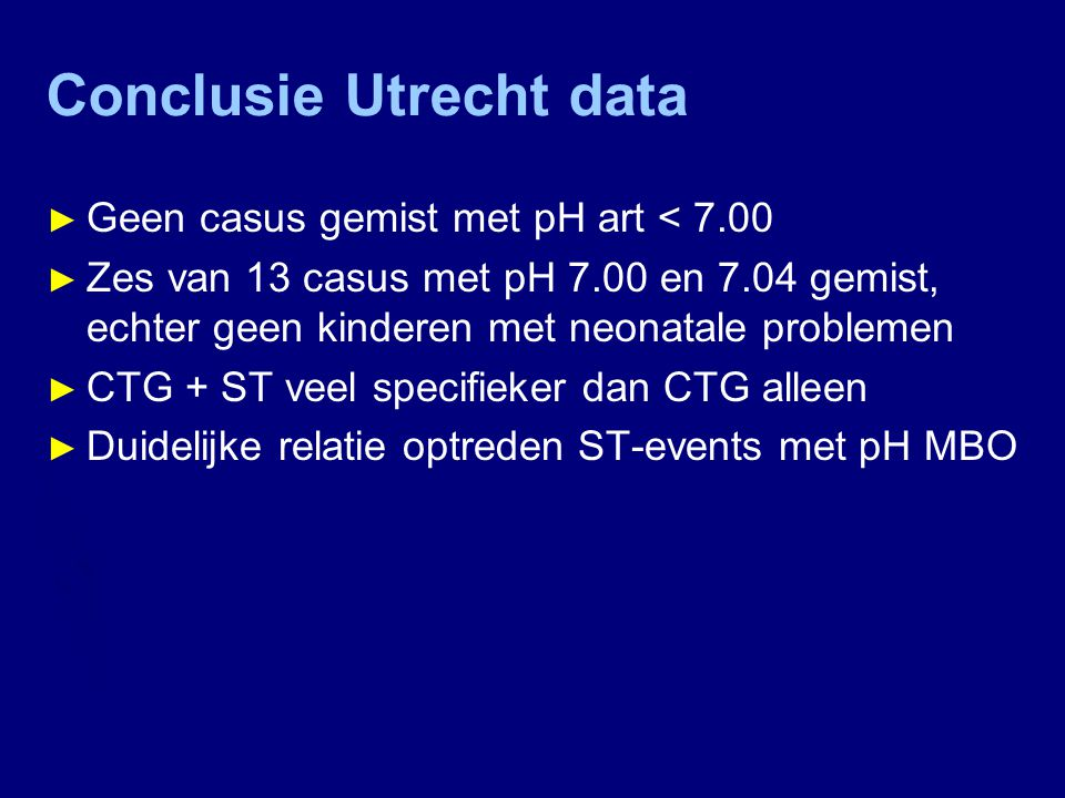 Conclusie Utrecht data