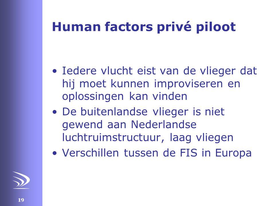 Human factors privé piloot