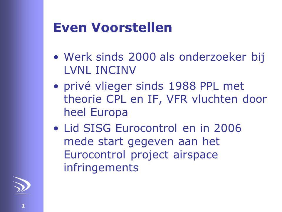 Even Voorstellen Werk sinds 2000 als onderzoeker bij LVNL INCINV