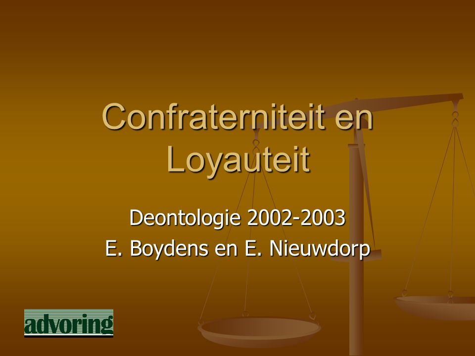 Confraterniteit en Loyauteit