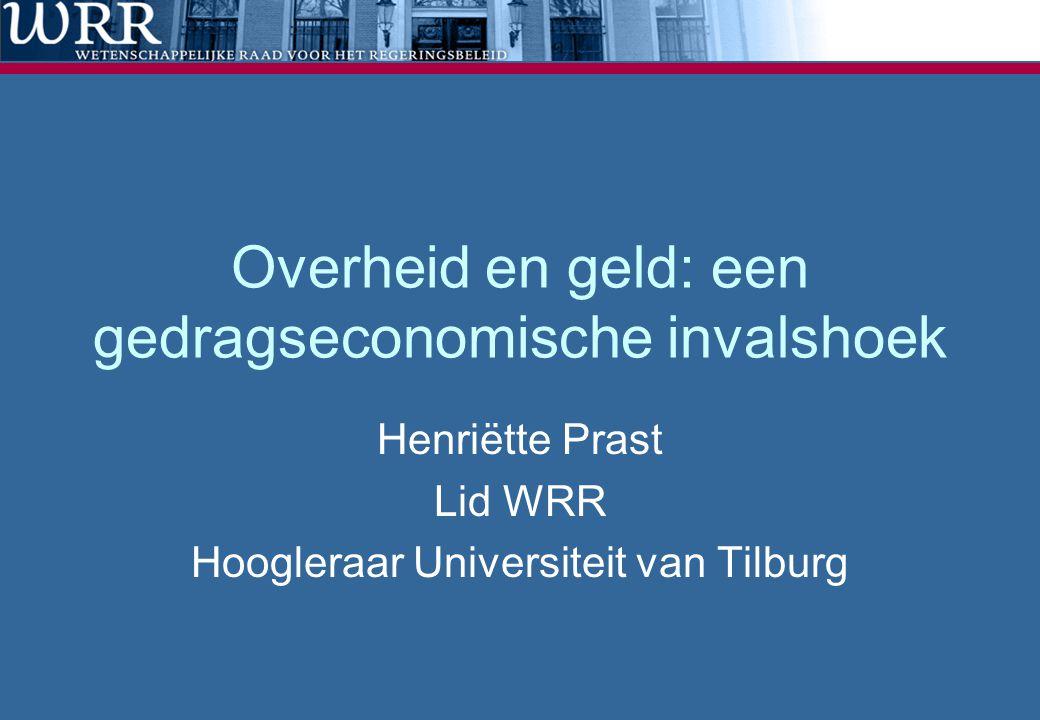 Overheid en geld: een gedragseconomische invalshoek