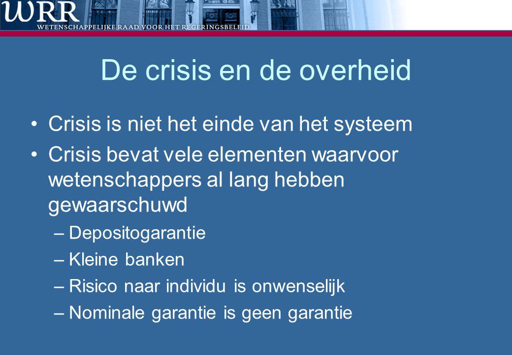 De crisis en de overheid