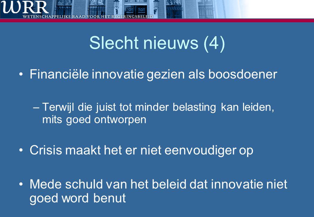Slecht nieuws (4) Financiële innovatie gezien als boosdoener