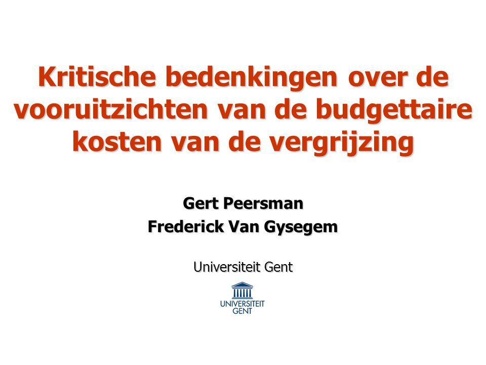 Gert Peersman Frederick Van Gysegem Universiteit Gent