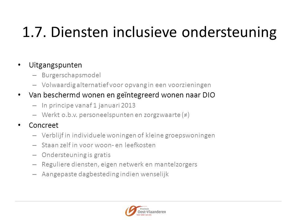 1.7. Diensten inclusieve ondersteuning