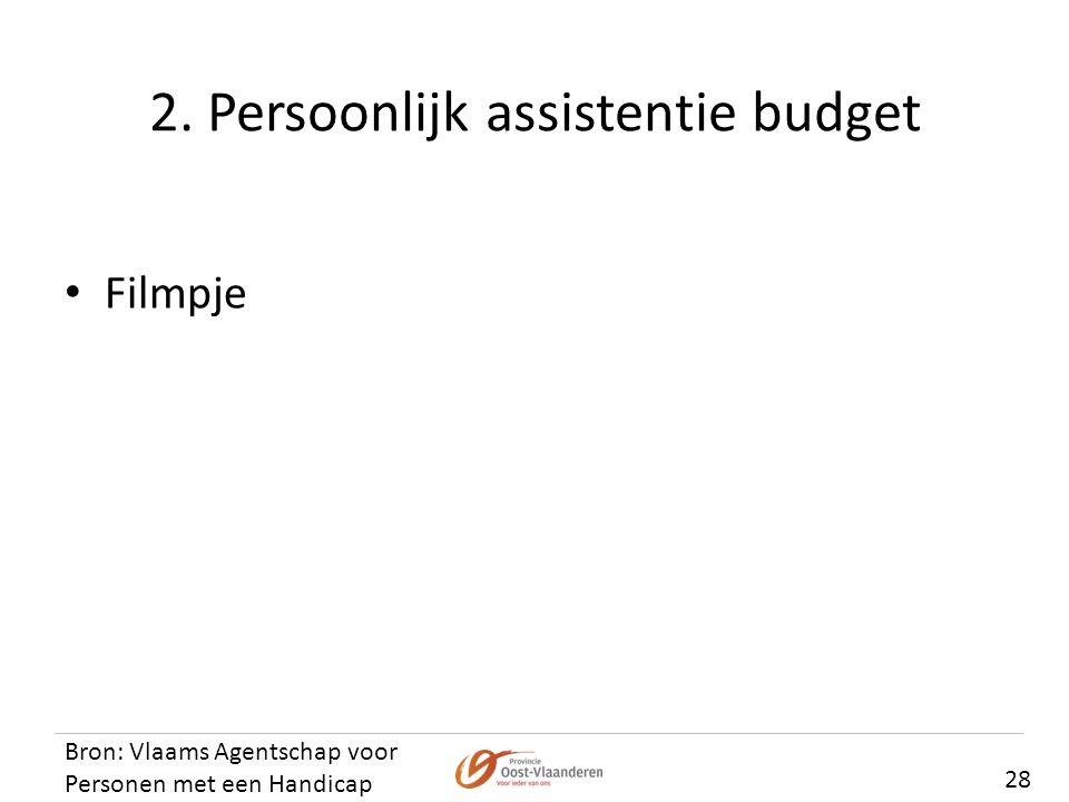 2. Persoonlijk assistentie budget