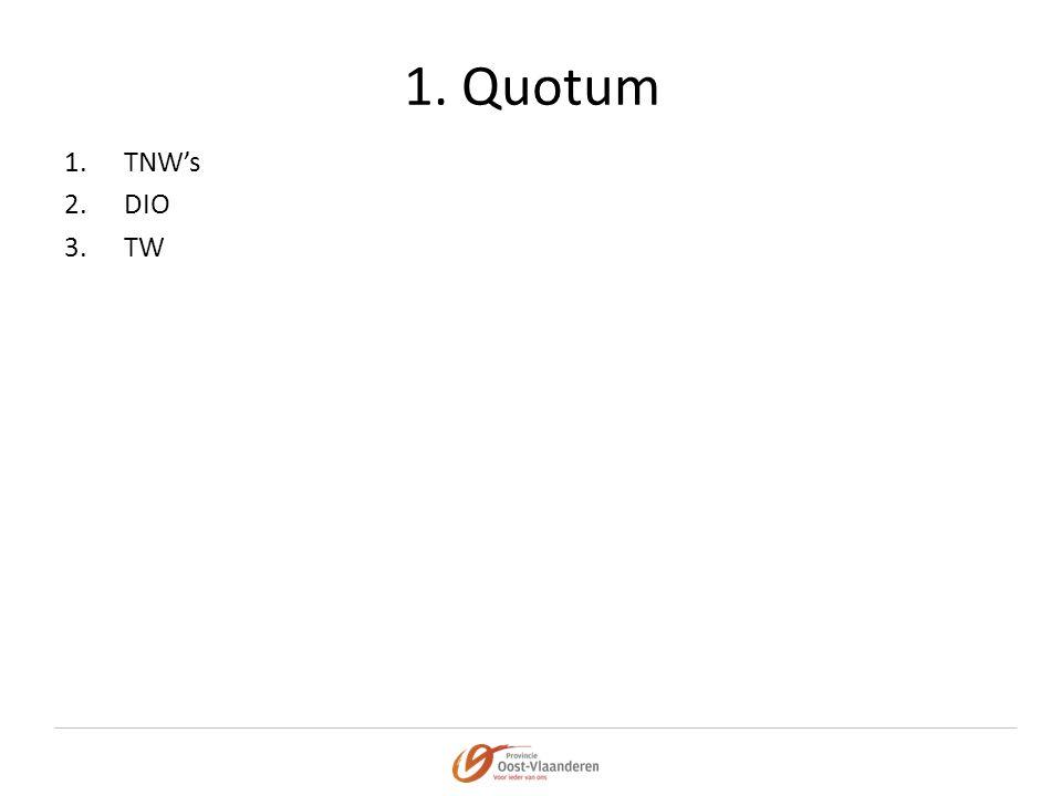 1. Quotum TNW's DIO TW